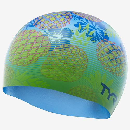 Шапочка для плавания TYR Pineapple Fade Swim Cap ананасы